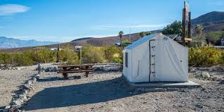 Tent Cabin by Panamint Springs Campground Death Valley National Park Camping