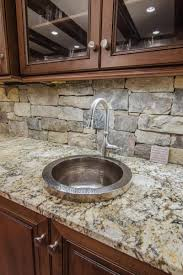 stacked stone backsplash stacked stone kitchen backsplash great