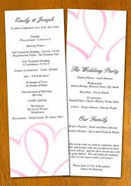 wedding program layout template free sle wedding program template