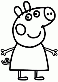 coloring pages peppa the pig easy peppa pig cake blog kid child baby family friendly