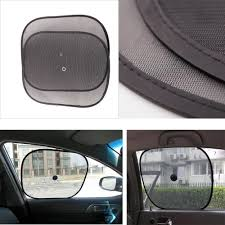 universal car window sunshade black mesh shield sun visor foldable