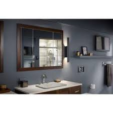 kohler aluminum frame medicine cabinets use this mirror and frame it with 2x4s kohler verdera 40 in w x 30