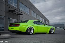 Dodge Challenger Tire Size - featured fitment liberty walk srt hellcat w pur wheels