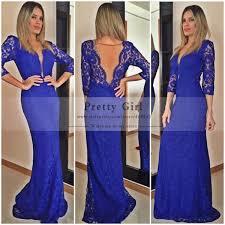 aliexpress com buy chic royal blue lace long prom dress