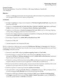 T Sql Resume Manikandan Sharepoint Resume