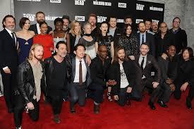 new walking dead cast 2016 the walking dead cast at season 7 premiere 2016 popsugar celebrity