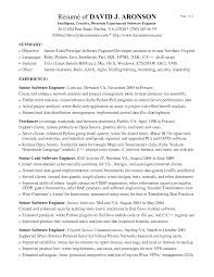 Wcf Resume Sample by Embedded Software Developer Cover Letter