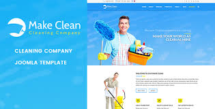 make clean cleaning company joomla template by jlvextension