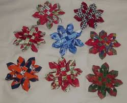 snowflake fabric ornaments