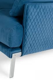 Blue Velvet Sectional Sofa by Dallas Designer Furniture Lusso Achen Modern Blue Velvet