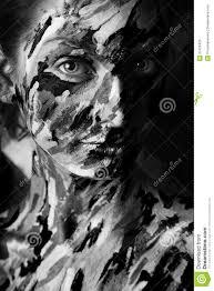 Peinture Noir Et Blanc by Portrait Noir Et Blanc De Femme Dans Des Courses De Peinture