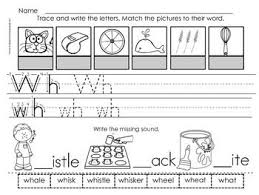 sorting pictures that begin with wh digraph worksheets students