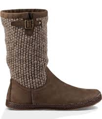 ugg sale saks ugg lyza leather boots in brown lyst