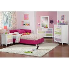 bedroom deluxe white girls bedroom furniture set with pink accent
