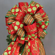 christmas tree bows merry christmas sparkle dot stripe christmas tree bow package