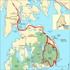 americas byways acadia all american road map america s byways