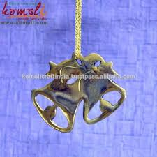 new hanging bell shaped flat metal ornaments decoration