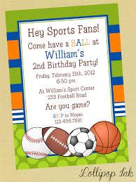 sports birthday invitations blueklip com