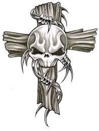 cross skulls design getting inked skull design