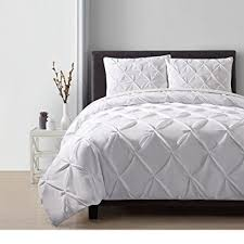amazon com 3 piece white ivory pinch pleated duvet cover king set