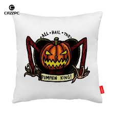 horror home decor halloween horror pumpkin king print car decorative throw