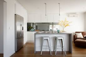 freedom kitchens caesarstone sleek concrete modern industrial