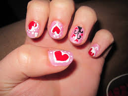 valentines nails nail art valentines nails love design nails