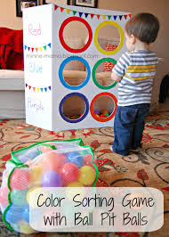 color toss activity with video sorting colors tossed and