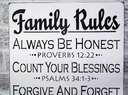 Family Wood Sign Home Decor Incredible Decoration Family Rules Wall Art Excellent Design