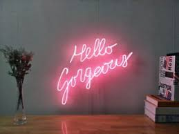 Bedroom Neon Lights New Hello Gorgeous Neon Sign For Bedroom Wall Decor Artwork With