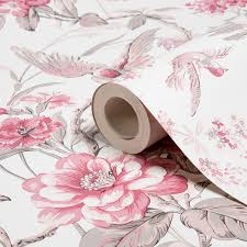 elizabeth floral birds dusky wallpaper departments diy at