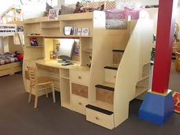 Bunk Bed With Desk And Stairs Wooden Loft Bunk Bed With Desk Underneath U2013 Home Improvement 2017