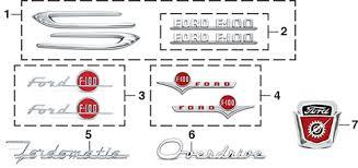 emblems 1953 56 ford f100 f250 lmc truck