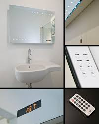 Bathroom Mirror With Clock Led Bathroom Mirrors Mirrors With Led Lights Clock Radio