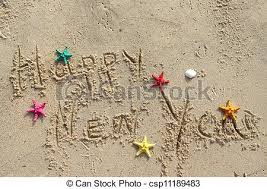 happy new year post card happy new year postcard decorated with starfishes pictures