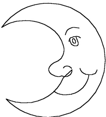 drawing moon colouring page drawing moon colouring page