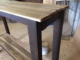 Diy Sofa Table Diy Pallet Sofa Table Plans Thecreativescientist