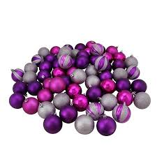 64ct pink purple and silver 3 finish shatterproof