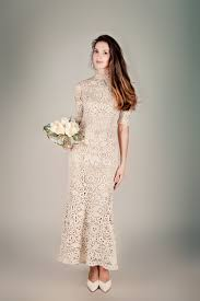 beige dresses for wedding wedding dresses non white bridal gown beige crochet