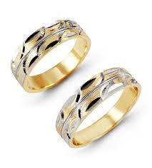 modern wedding rings 14k white yellow gold etched modern wedding ring set matching