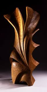 abstract wood carving new artist