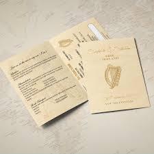 wedding invitations ireland passport wedding invitations weprint ie