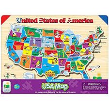 wooden usa map puzzle with states and capitals the learning journey lift learn usa map puzzle toys