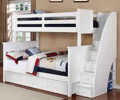 bunk beds kids bed with trundle bunk beds with steps white loft