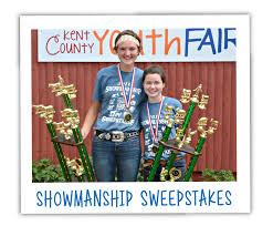 showmanship sweepstakes at the kent county youth fair