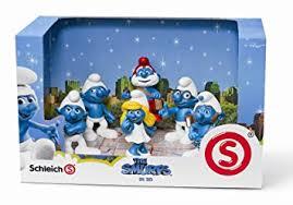 amazon smurfs 3d movie 6 figure papa smurf smurfette