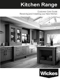 wickes kitchen cabinets wickes kitchen self fit customer care guide countertop
