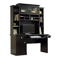 Office Depot Computer Desks Sauder Conrad Computer Desk And Hutch Estate Black By Office Depot