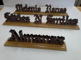 wooden desk name desk namescustom wood nameswood