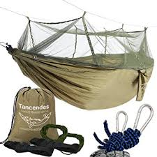 Net Bed Amazon Com Camping Hammock Tancendes Hammock With Mosquito Net
